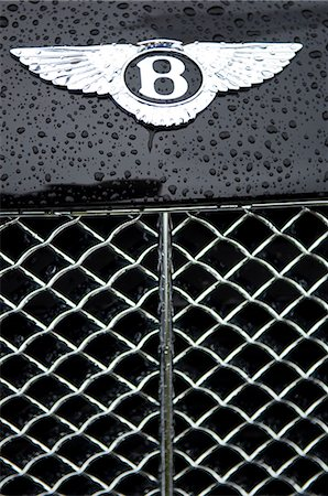 Bentley motif and grille on bonnet of luxury car Stock Photo - Rights-Managed, Code: 862-03353730