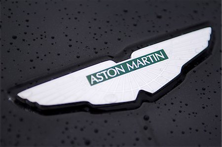 Logo on the bonnet of Aston Martin luxury car Stock Photo - Rights-Managed, Code: 862-03353732