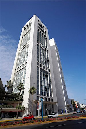 The Twin Centre,a pair of 110m high office buildings in the heart of Casablanca's business district. Stock Photo - Rights-Managed, Code: 862-03364681