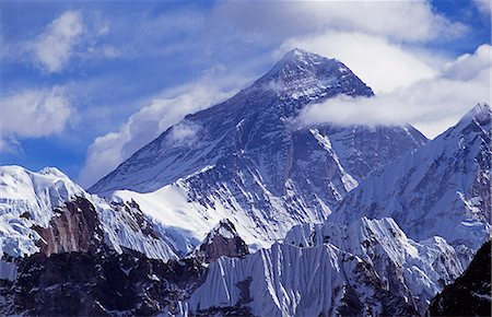 Western face of Mount Everest 8848m Stock Photo - Rights-Managed, Code: 862-03365452