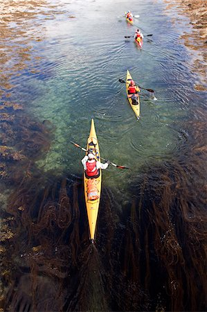 Norway,Nordland,Helgeland. Sea kayaking viewed from above. Stock Photo - Rights-Managed, Code: 862-03365663