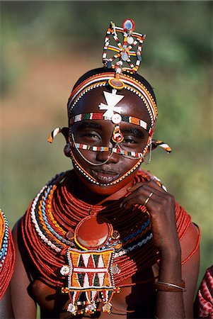 A young Laikipiak Maasai girl. Stock Photo - Rights-Managed, Code: 862-03365986