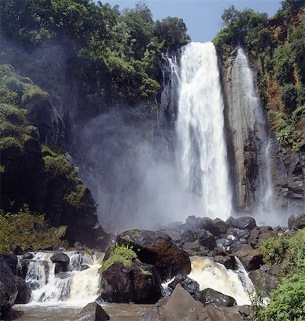 Kenya,Nyandarua,Nyahururu. Thomson's Falls,named after the Scottish explorer Joseph Thomson who became the first white man to pass through Maasailand in 1883/84 on his epic journey to the eastern shores of Lake Victoria. Stock Photo - Rights-Managed, Code: 862-03366220