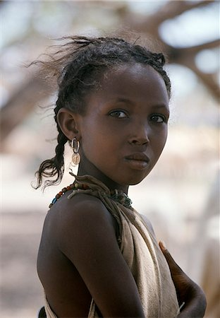 An attractive young girl from the nomadic Gabbra tribe. Stock Photo - Rights-Managed, Code: 862-03366294