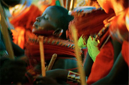 Laikipiak Maasai Girl Dancing Stock Photo - Rights-Managed, Code: 862-03366383