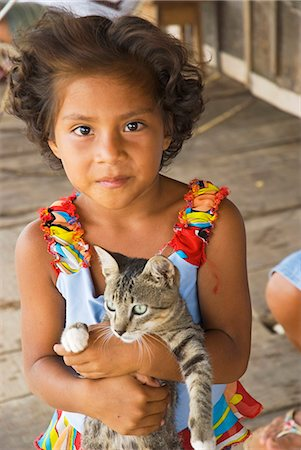 Peru,Amazon River. Indigenous Indian girl in the village of Islandia. Stock Photo - Rights-Managed, Code: 862-03360630