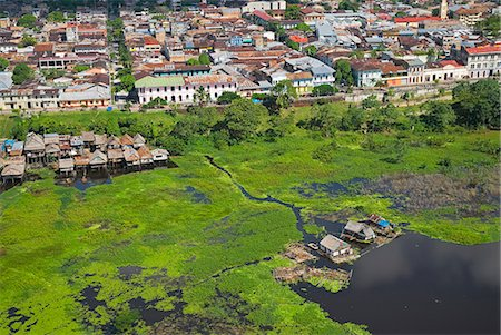 Peru,Amazon,Amazon River,Iquitos. Aerial view of the port,harbour and settlements of Iquitos,the principle city of the Upper Amazon Basin. Stock Photo - Rights-Managed, Code: 862-03360665