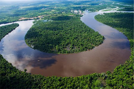Peru,Amazon,Amazon River. Bends in the Nanay River,a Tributary of the Amazon River. Stock Photo - Rights-Managed, Code: 862-03360660