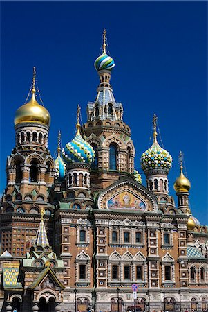 Russia,St Petersburg. The Church on Spilt Blood. Stock Photo - Rights-Managed, Code: 862-03361018