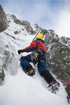extreme terrain - Scotland,Scottish Highlands,Glencoe. Ice Climbing on the cliffs of Aonach Mor. Stock Photo - Rights-Managed, Code: 862-03361566