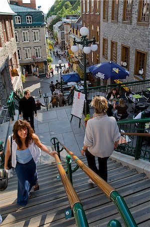 Quebec City, Canada. Crowds on a summer afternoon, shopping in old Quebec City Stock Photo - Rights-Managed, Code: 862-03710639