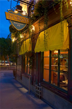 Quebec City, Canada. The Dorsay pub in old Quebec City Stock Photo - Rights-Managed, Code: 862-03710644