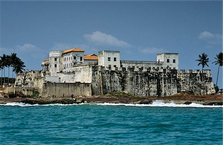 Ghana,Central region,Elmina. Elmina Castle,aka St George's Slave Fort - the oldest European building south of the Sahara. Scene of horrors and degradation. Stock Photo - Rights-Managed, Code: 862-03711646