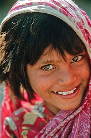 Indian girl, State of Rajasthan, India Stock Photo - Rights-Managed, Code: 862-03712108