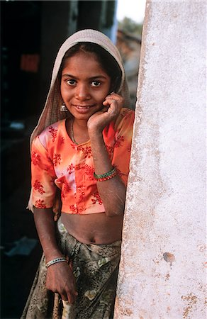 Indian girl, State of Rajasthan, India Stock Photo - Rights-Managed, Code: 862-03712109
