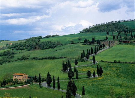 simsearch:845-03720933,k - A local road,Monticchiello,Tuscany Stock Photo - Rights-Managed, Code: 862-03712243