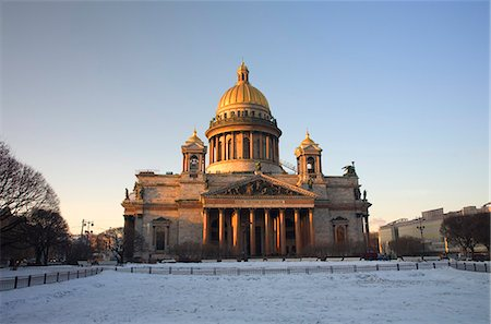 Russia, St.Petersburg; The majestic St.Isaac's Cathedral built in Baroque style between 1818 and 1858 in St.Isaac's Square Stock Photo - Rights-Managed, Code: 862-03713273