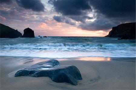 Sunset on Dalbeg beach, Isle of Lewis, Hebrides, Scotland, UK Stock Photo - Rights-Managed, Code: 862-03713382