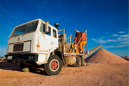 Australia, South Australia, Coober Pedy.  Mining machinery in the Coober Pedy opal fields. Stock Photo - Rights-Managed, Code: 862-03736265