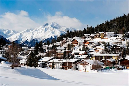 small town snow - Austria, The Tyrol, Seefeld, Stock Photo - Rights-Managed, Code: 862-03736343