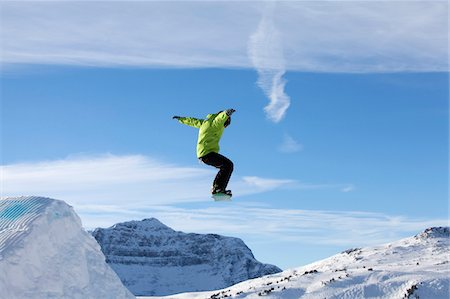 sports and snowboarding - Banff, Alberta, Canada. Skiers at Sunshine Village in Banff National Park, Alberta Canada Stock Photo - Rights-Managed, Code: 862-03731014