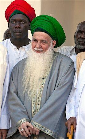 Kenya. Muhammad Hisham Kabban, Chairman of the Islamic Supreme Council of America, visiting Lamu island during Maulidi. Stock Photo - Rights-Managed, Code: 862-03731553