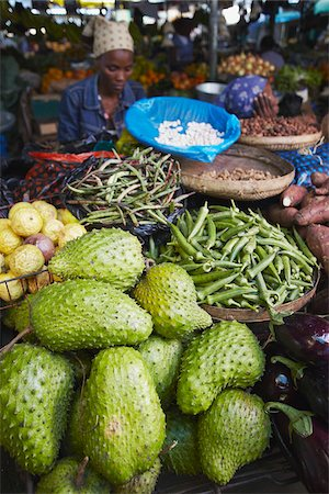 Woman selling fruit and vegetables in municipal market, Maputo, Mozambique Stock Photo - Rights-Managed, Code: 862-03807907