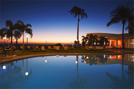exotic outdoors - Pool at Hotel Cardoso at sunset, Maputo, Mozambique Stock Photo - Rights-Managed, Code: 862-03807917