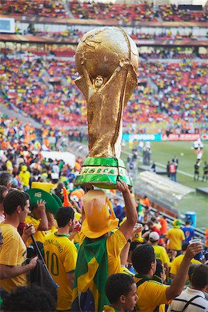 soccer fan - Brazilian football fans at World Cup match, Port Elizabeth, Eastern Cape, South Africa Stock Photo - Rights-Managed, Code: 862-03808406