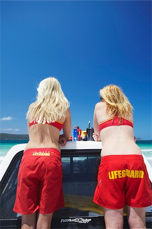 Lifeguards on Middleton Beach, Albany, Western Australia, Australia Stock Photo - Rights-Managed, Code: 862-03887197