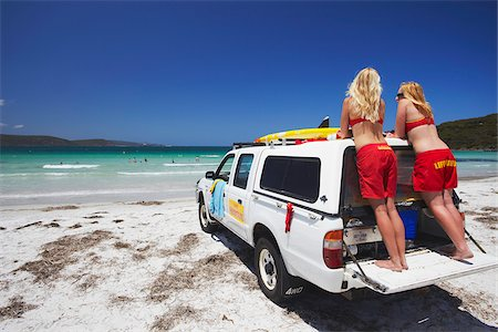 Lifeguards on Middleton Beach, Albany, Western Australia, Australia Stock Photo - Rights-Managed, Code: 862-03887198