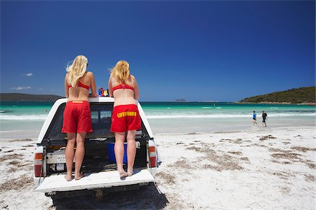 Lifeguards on Middleton Beach, Albany, Western Australia, Australia Stock Photo - Rights-Managed, Code: 862-03887199