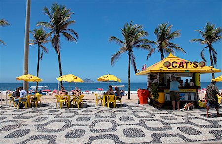 dog in heat - The famous Ipanema Beach in Rio de Janeiro. Brazil Stock Photo - Rights-Managed, Code: 862-03887389