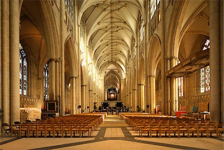 York Minster is a Gothic cathedral in York, England and is one of the largest of its kind in Northern Europe alongside Cologne Cathedral. Stock Photo - Rights-Managed, Code: 862-03887665
