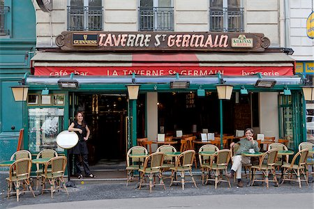 The St Germain Tavern in Paris Stock Photo - Rights-Managed, Code: 862-03887713