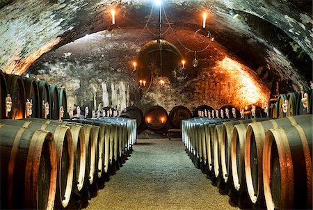 Wine cellar, castle Johannisburg, Rhine district, Hesse, Germany Stock Photo - Rights-Managed, Code: 862-03887969