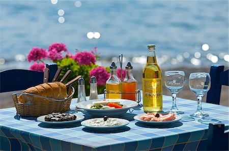 european cafe bar - Tavern in Kato Zakros, East Coast, Crete, Greece Stock Photo - Rights-Managed, Code: 862-03888367