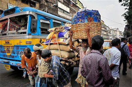 Traffic jam in Kolkata (Calcutta), India Stock Photo - Rights-Managed, Code: 862-03888418