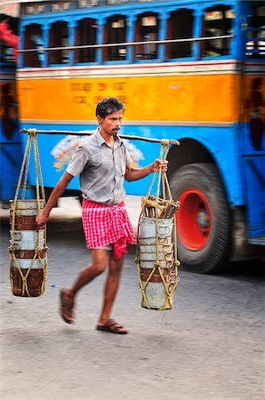 Streets of Kolkata. India Stock Photo - Rights-Managed, Code: 862-03888431