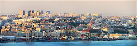 Wide view of Lisbon, Portugal Stock Photo - Rights-Managed, Code: 862-03889087