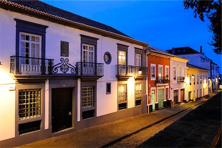 Historical center of Angra do Heroismo (UNESCO World Heritage Site). Terceira, Azores islands, Portugal Stock Photo - Rights-Managed, Code: 862-03889151