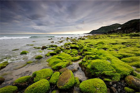 Seaside with lava rocks at Praia Formosa. Santa Maria, Azores islands, Portugal Stock Photo - Rights-Managed, Code: 862-03889219