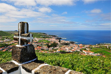 Santa Cruz, the main town of the island. Graciosa, Azores islands, Portugal Stock Photo - Rights-Managed, Code: 862-03889248