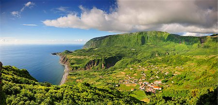 flores - The little village of Fajazinha. The westernmost location in Europe. Flores, Azores islands, Portugal Stock Photo - Rights-Managed, Code: 862-03889277