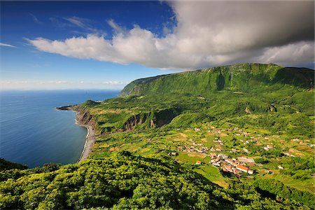 The little village of Fajazinha. The westernmost location in Europe. Flores, Azores islands, Portugal Stock Photo - Rights-Managed, Code: 862-03889278