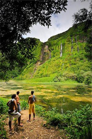 flores - Poço da Alagoinha. Ilha das Flores Stock Photo - Rights-Managed, Code: 862-03889284