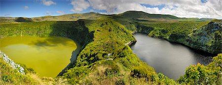 flores - Crater lakes, Caldeira Comprida & Caldeira Funda. Flores, Azores islands, Portugal Stock Photo - Rights-Managed, Code: 862-03889287