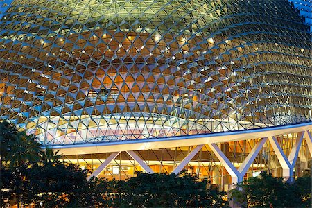 Singapore, Singapore, Marina Bay.  Esplanade - Theatres on the Bay building. Stock Photo - Rights-Managed, Code: 862-03889567