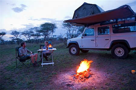 serengeti national park - Tanzania, Serengeti. Rough camping in one of the designated 'special campsites' (Sero 1 extra). Stock Photo - Rights-Managed, Code: 862-03890052