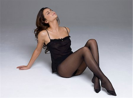 Young woman in lingerie Stock Photo - Rights-Managed, Code: 877-06834785